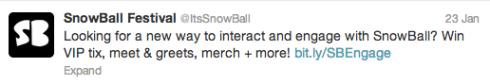 SnowBall Twitter
